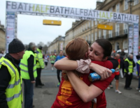 Bath Half Marathon - finishing line