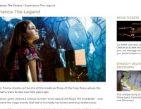 ing Richard III Visitor Centre website page