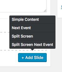Signage content types