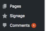 Signage custom post type
