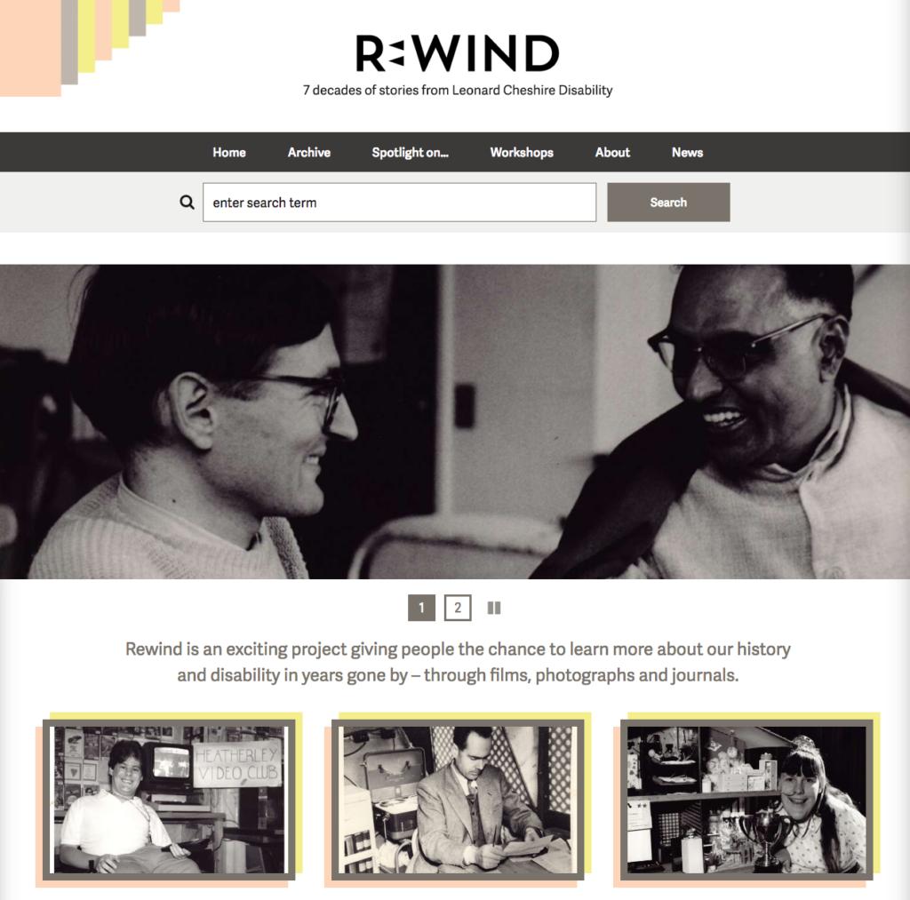 Leonard Cheshire Rewind - homepage