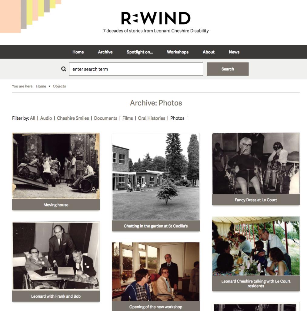 Leonard Cheshire Rewind - object view