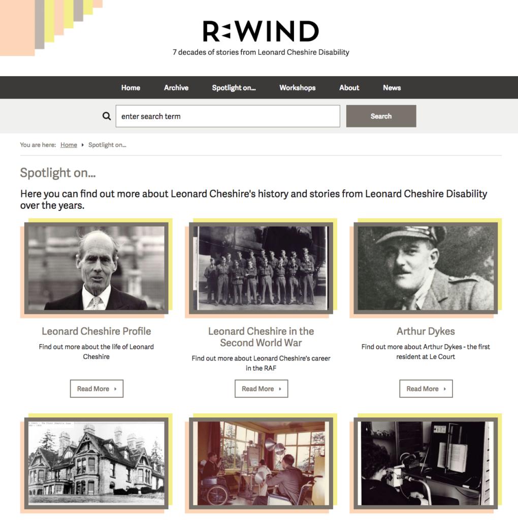 Leonard Cheshire Rewind - stories