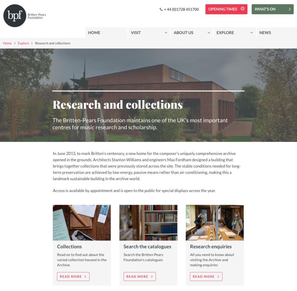 BPF research landing page