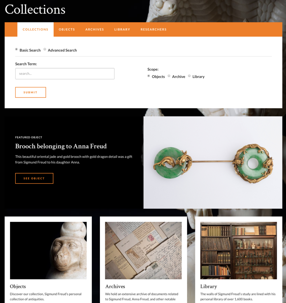 Freud - collections homepage